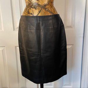 Vintage Valerie Steven Genuine Black Leather Mini
